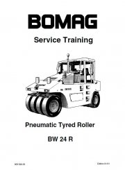 Bomag BW 24 R Pneumatic Tyred Roller Training Manual PDF