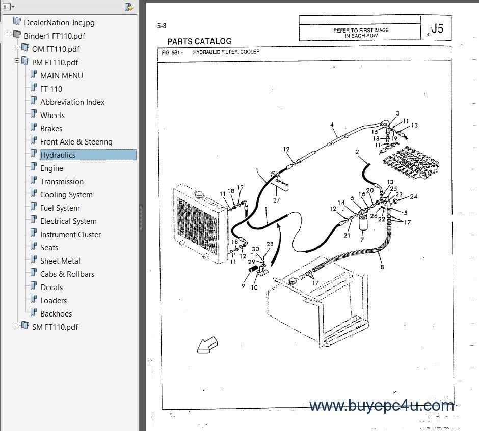 hight resolution of fiatallis ft110 tractor loader backhoe pdf manual fiat 640 tractor wiring diagram fiat 650 tractor wiring diagram