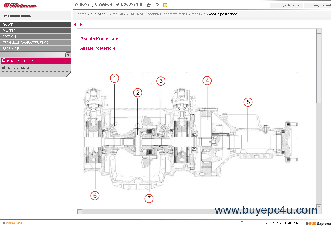 Hurlimann SDF e-Parts e-Doc 2014