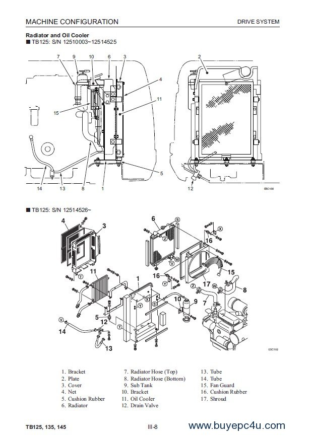 Takeuchi TB125 TB135 TB145 Excavator Workshop Manual PDF