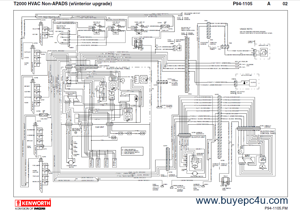 Kenworth T2000 Electrical Diagram Volvo Electrical