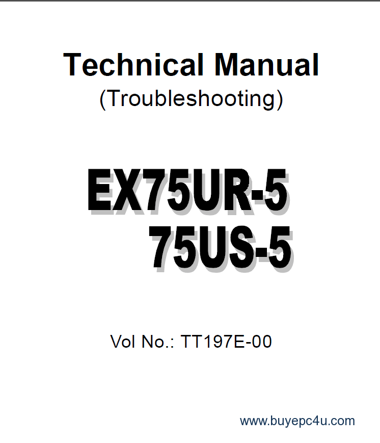 Hitachi EX75UR-5 EX75US-5 Technical Manual PDF