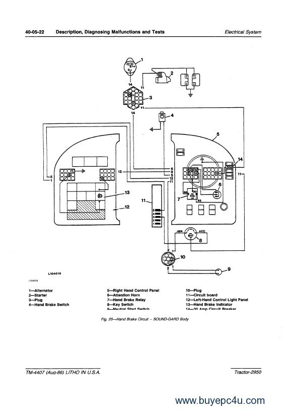 Wiring Diagram For John Deere 2950 Tractor
