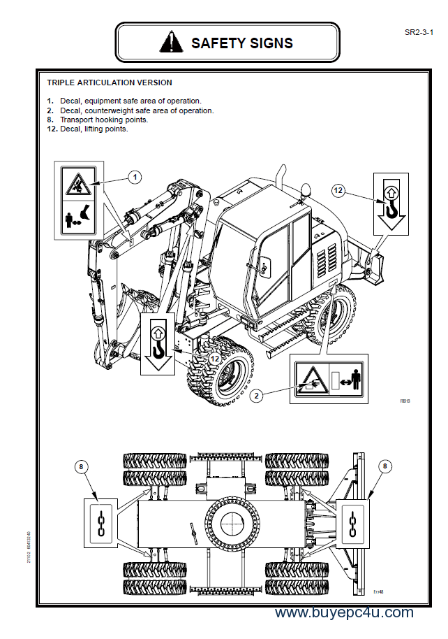Fiat Kobelco EX125W Excavator Workshop Manual PDF