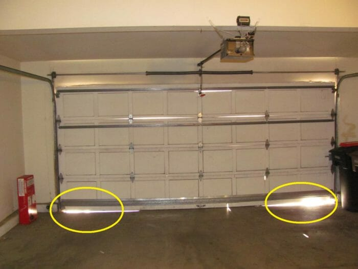 Gaps At Bottom of Garage Door Causes and When Serious