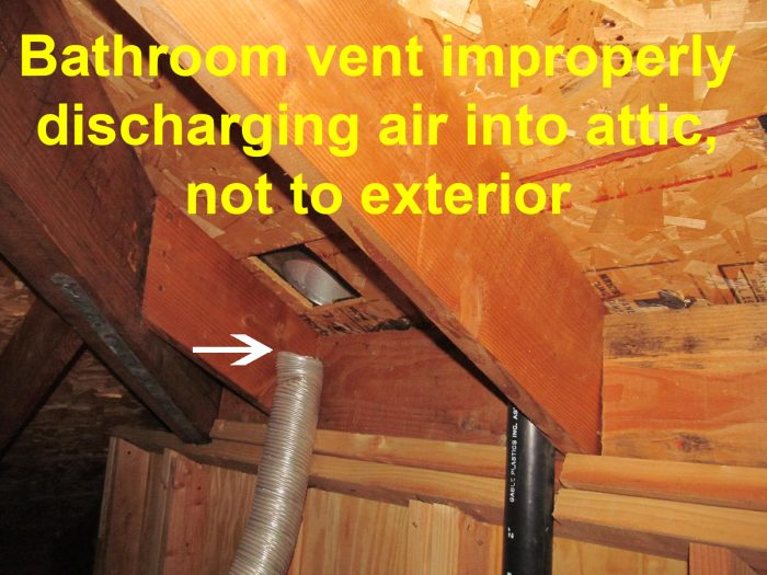 Bathroom Vent Fan Codes Venting Into Attic Mold Structural Issues Buyers Ask