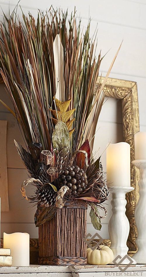 Natural Grass Fall Home Decor