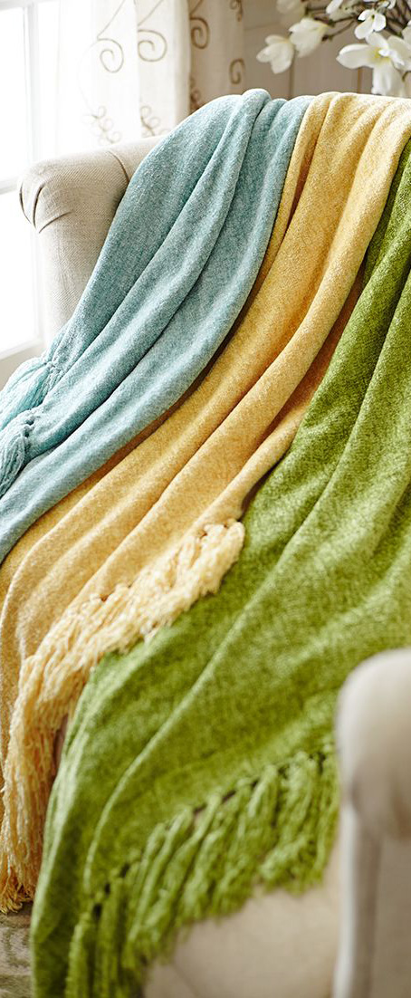Spring Chenille Throws