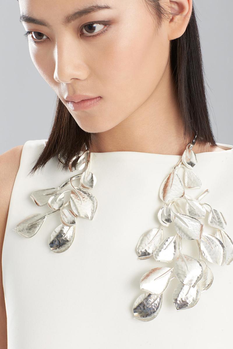Josie Natori Silver Hammered Necklace
