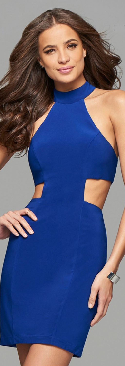 Faviana Blue Cocktail Dress