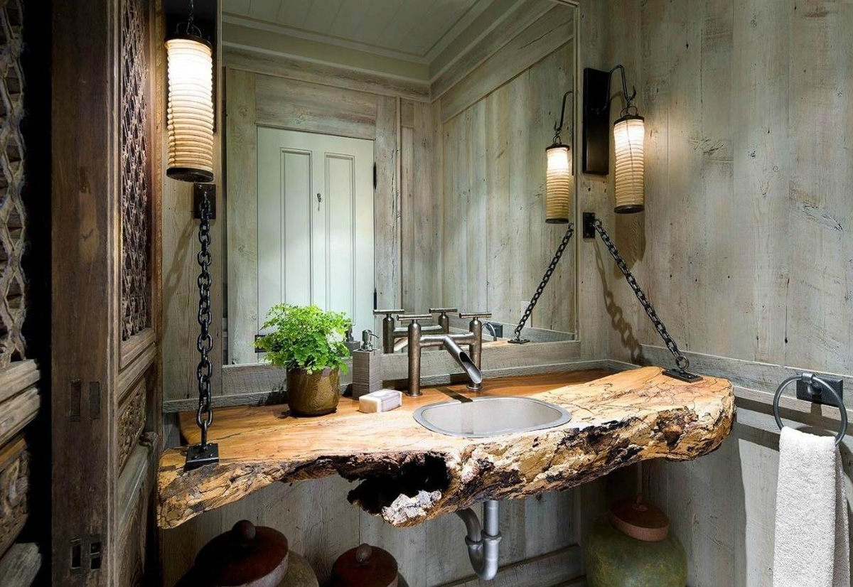 Image Courtesy Of: Luxe Interiors + Design Shop Rustic Modern Decor