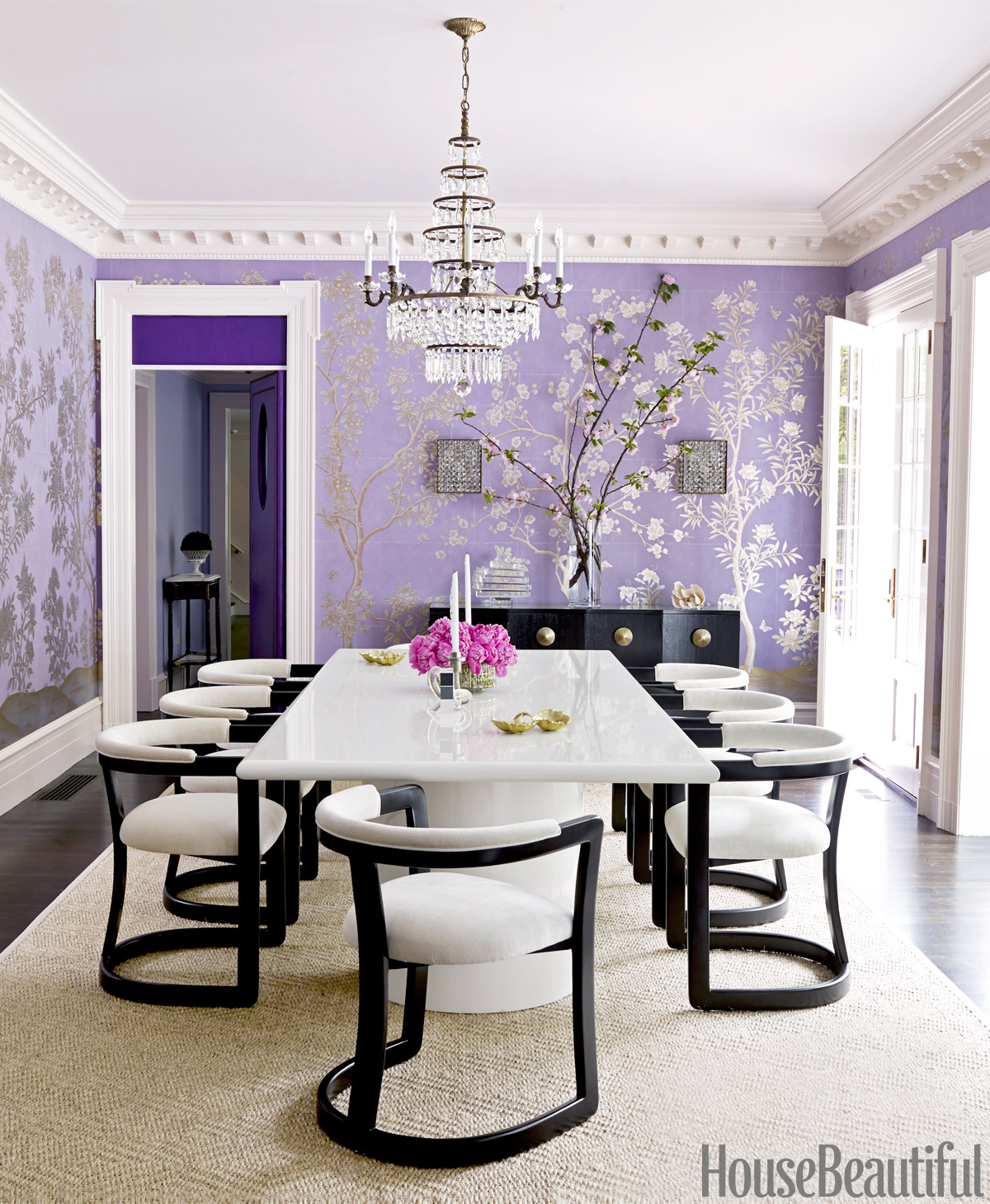Lavender Dining Room Decorating Ideas | Purple Dining Rooms