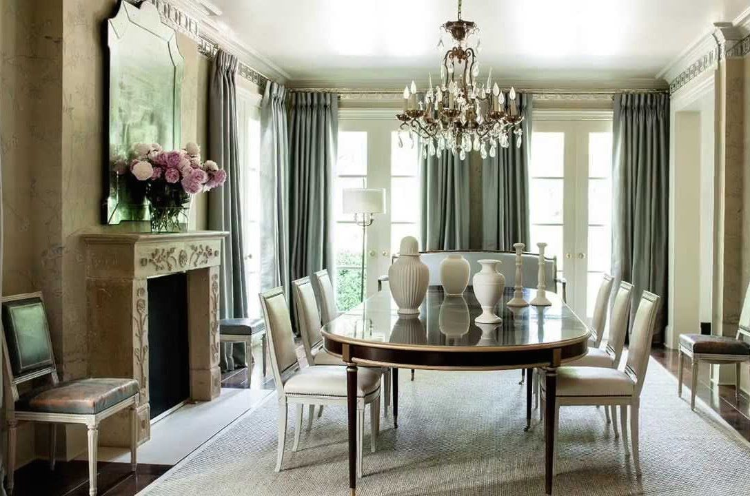 Sage Green Dining Room Ideas Part - 42: Suzanne Kasler Sage Green Dining Room