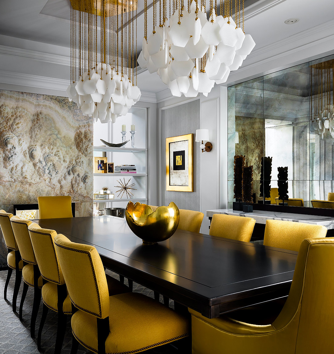 Dining Room Post 44 Glamorous Gold