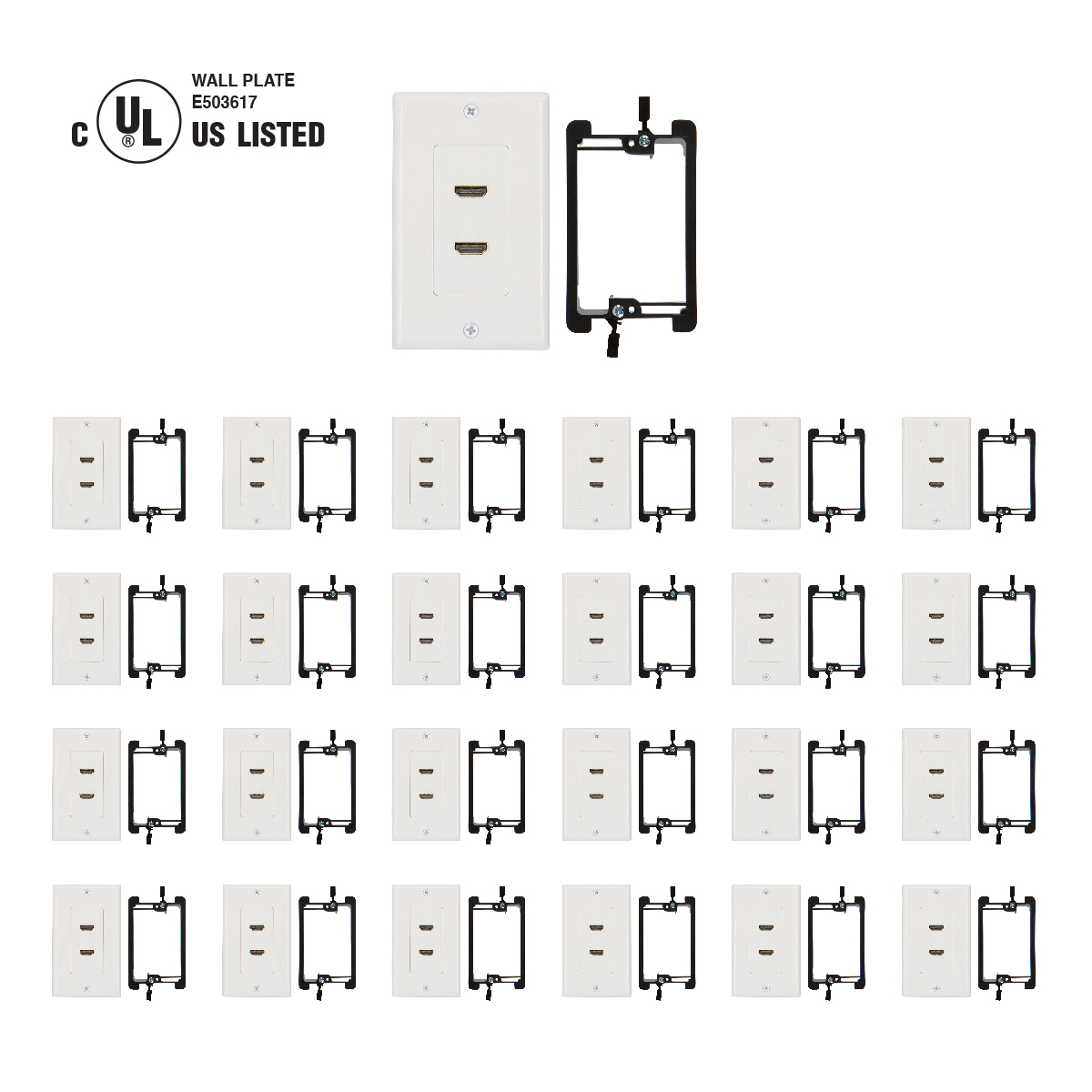 Shop Hdmi Wall Plates With Included Cables In White