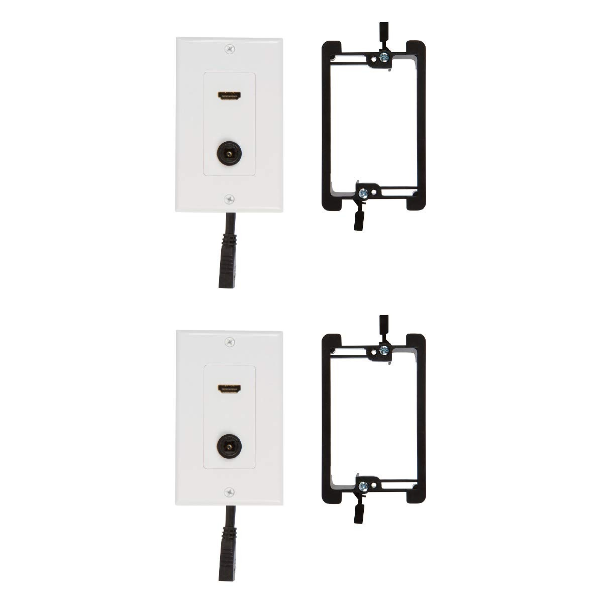 HDMI Toslink Wall Plate with Single Gang Low Voltage