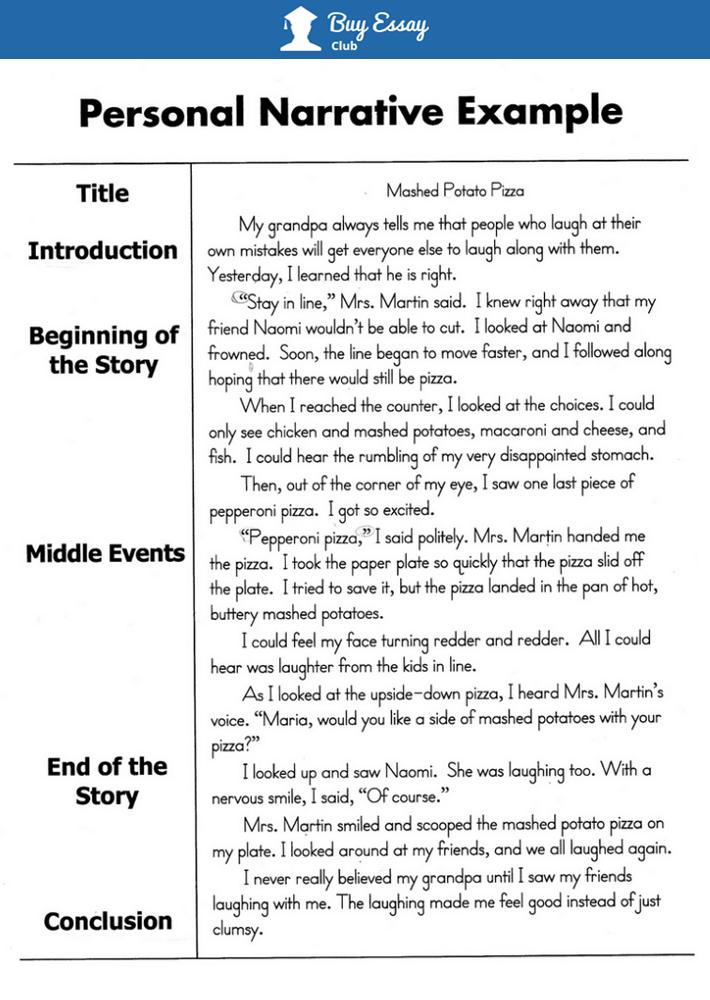 essay narrative example