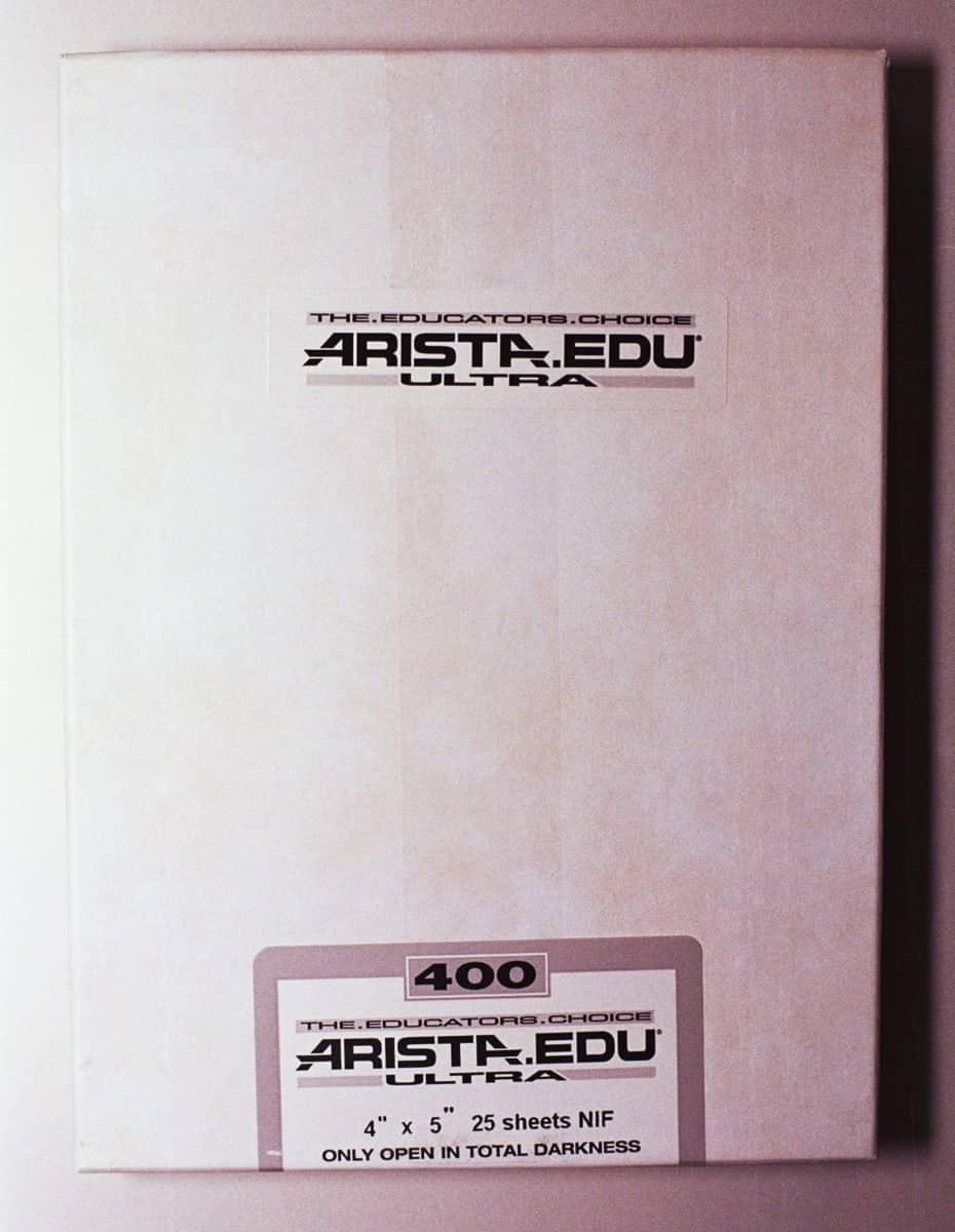 Arista Ultra 400 Black And White Sheet Film 4 X 5