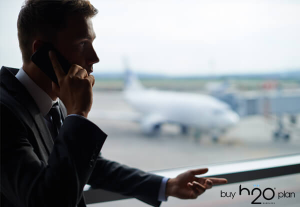 image of a person talking on phone- International Plans
