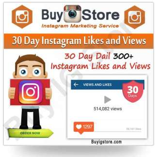 30 Day Instagram Likes and Views