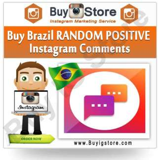 Buy Brazil RANDOM POSITIVE Instagram Comments