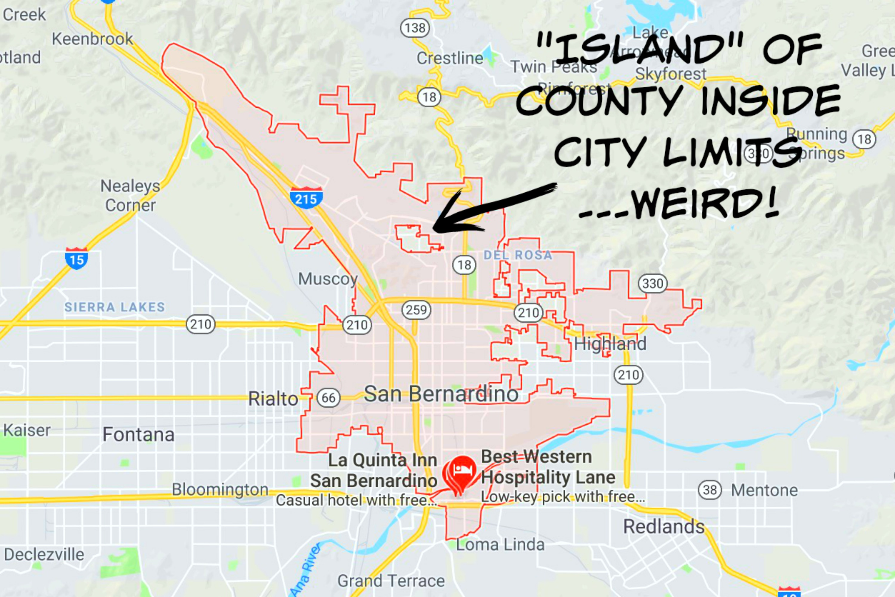 San Bernardino County Island Map