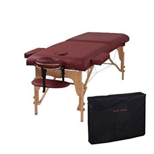 heaven-massage-burgundy-two-fold - Portable Massage Tables
