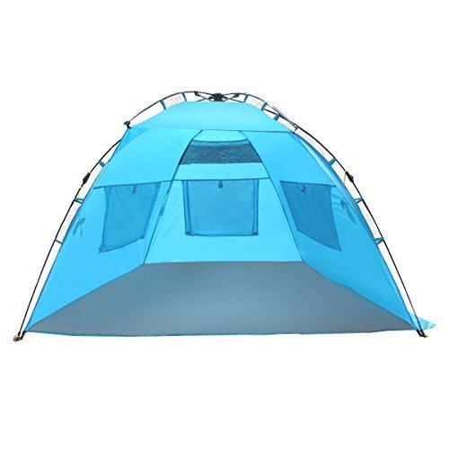 EasyGoTM Shelter – INSTANT Easy Up Beach Tent Sun Sport Shelter – Sets up in Seconds – 100% Satisfaction Guaranteed by EasyGO - beach tents