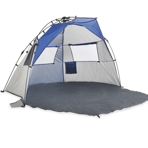 Lightspeed Outdoors Quick Cabana Beach Tent Sun Shelter, Blue - beach tents
