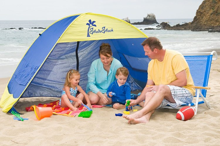 Shade Shack Instant Pop Up Family Beach Tent and Sun Shelter by Demco Incorporated - beach tents