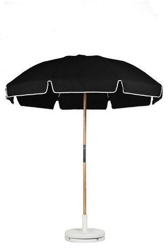 Frankford Umbrellas 7.5 ft. Fiberglass Rib Commercial Grade Umbrella with Ash Wood Pole/Sand Anchor_15 best beach umbrella