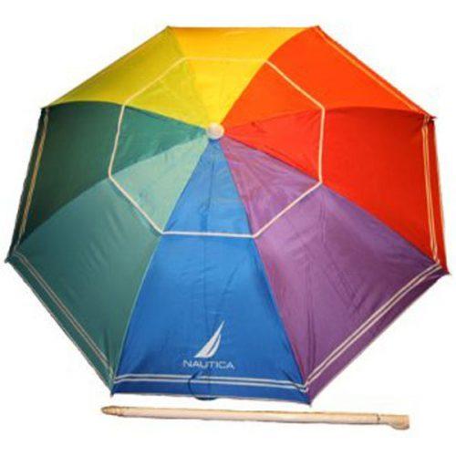 Nautica Beach Umbrella with UPF 50+_15 best beach umbrella