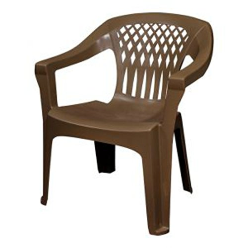 Adams 8248-60- 3700 Big Easy Stack Chair, Earth Brown - Plastic Chairs