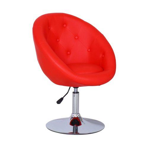 Adeco Cushioned Leatherette Adjustable Barstool Chair Chrome Finish Pedestal Base