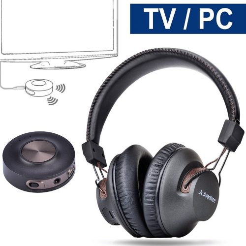 Avantree Wireless Headphones for TV with Bluetooth Transmitter SET
