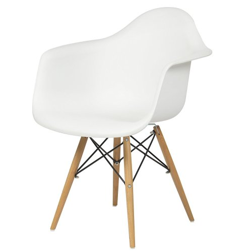 Best Choice Products Eames Style Armchair Mid Century Modern Molded Plastic Shell Arm Chair - Plastic Chairs