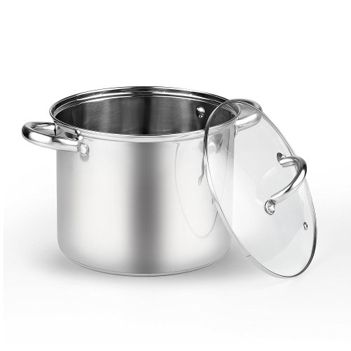 Cook N Home 2480 Stockpot with Lid, 6.5 quarts, Stainless Steel - Stainless Steel Pot