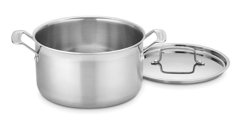 Cuisinart MCP44-24N MultiClad Pro Stainless 6-Quart Saucepot with Cover - Stainless Steel Pot