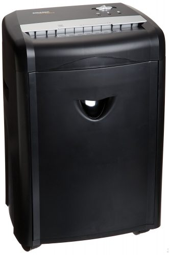 AmazonBasics 12-Sheet High-Security Micro-Cut Paper, CD, and Credit Card Shredder with Pullout Basket - Paper Shredders