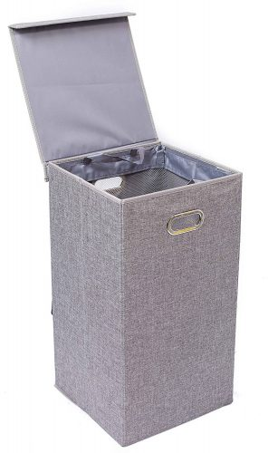 BirdRock Home Single Laundry Hamper with Lid and Removable Liner - Nursery Hampers