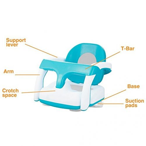 COLORTREE Baby Bath Shower Chair Foldable Support Training Seat - Baby Bath Seats