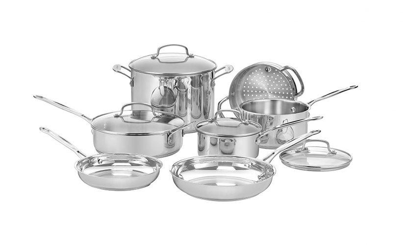 Cuisinart 77-11G Chef's Classic Stainless 11-Piece Cookware Set - pots pans sets