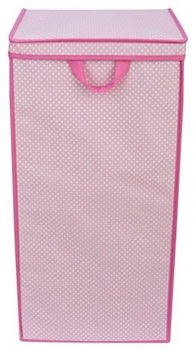 Delta Children Tall Nursery Clothing Hamper, Barely Pink Polka Dot - Nursery Hampers