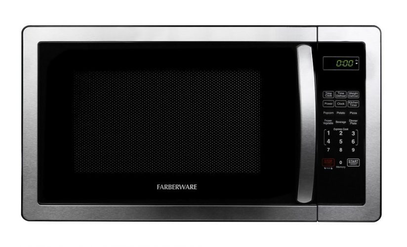 Farberware Classic FMO11AHTBKB 1.1 Cubic Foot 1000-Watt Microwave Oven, Stainless Steel - Over the Range Microwaves