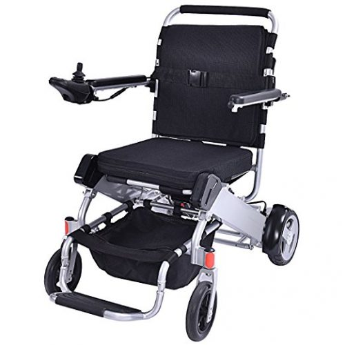 Giantex Lightweight 55 lbs only Heavy Duty Supports 330 lbs Aluminum Foldable Wheelchair Electric Power Propelled Portable - Electric Wheelchairs