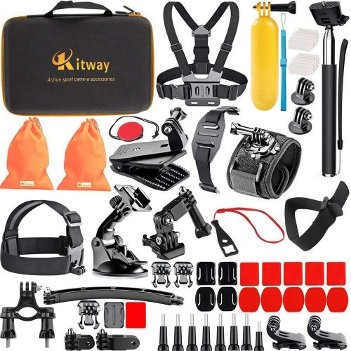 Kitway 65-in-1 Action Camera Accessories Kit