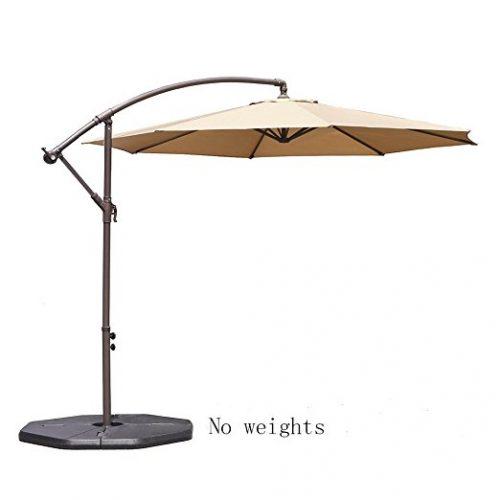 Le Papillon 10 ft Cantilever Umbrella Outdoor Offset Patio Umbrella - Offset Patio Umbrellas