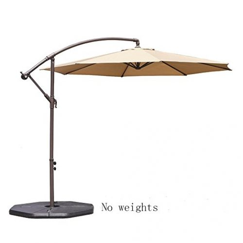 Le Papillon 10 Ft Cantilever Umbrella Outdoor Offset Patio Umbrella    Offset Patio Umbrellas