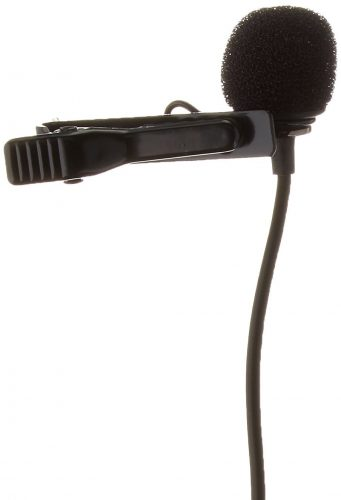 Saramonic SR-GMX1 Platinum Lavalier Clip-on Microphone with Lapel Clip, Foam, and Furry Windscreens - GoPro External Microphone