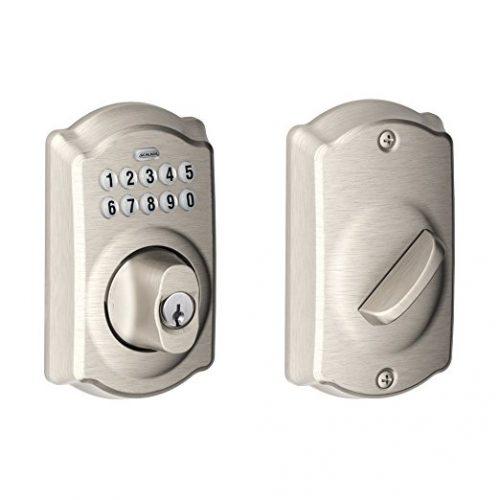Schlage BE365VCAM619 Camelot Keypad Deadbolt, Satin Nickel - Keypad Door Locks